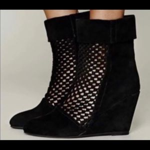 Jeffrey Campbell Suede Ankle Boots w/rope front